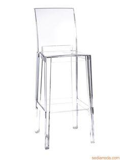 Sgabello Kartell di design, in policarbonato, altezza seduta 65 o 75 cm, anche per giardino (One More Please) | Sediarreda