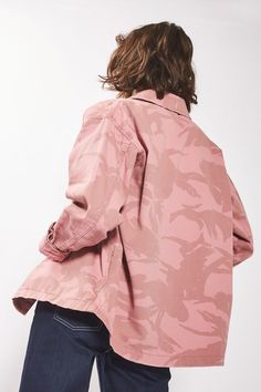 Pink Camouflage Shacket