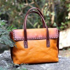 Vintage Genuine Leather Tote Bag Handbag Women Leather Shopping Bag Shoulder Bag AK01