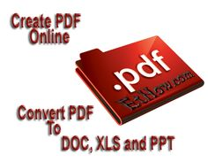 Create free PDF files online or Convert PDF files to Word, Power Point or Excel formats Open Source, Tech News, Stuff To Do, Software, Tutorials, Pdf, Entertainment, Technology, Words