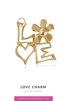 Our Love Block charm is a delicate and unique charm! Looks amazing when worn alone or with our other charms! Yellow, White or Rose Gold Measures x Jump ring at the L Polished Option of carats of white diamond in flower (see photos) LS Collection Or Rose, Rose Gold, Love Charms, Jewelry Collection, Delicate, Hair Accessories, Charmed, Chain, Diamond