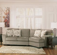 patola park patina small sectional w cuddler signature design