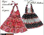 2 Patterns in One, Madison Girls Dress Pattern, Children's SEWING PATTERNS, pdf, baby, toddler