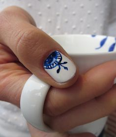 Royal Copenhagen Blue Mega Mug #manicure