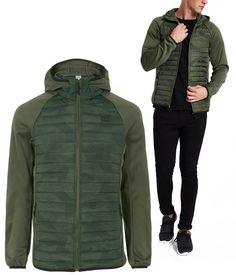 2d6f8d84e0bb Veste matelassée et look Sport - Coloris Vert Kaki - Mode Homme - JACK JONES