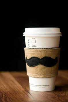 Lovely Cup   Starbucks you can do no wrong especially with a mustache sleeve.:)