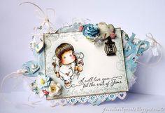 Cupid Angel Tilda, Loving border & sentiment / Jane's Lovely Cards