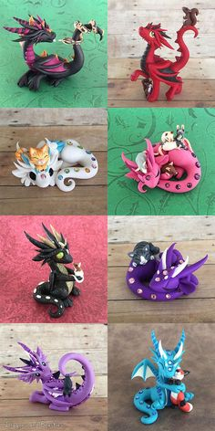 Dragon Pets Sale August 14 by DragonsAndBeasties.  dragons and kitties!