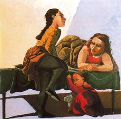 "terminusantequem: ""Paula Rego (Portuguese/British, b. Looking Back, Acrylic on paper laid down on canvas, 150 × 150 cm "" Painting For Kids, Figure Painting, Painting & Drawing, Galleries In London, Unusual Art, Feminist Art, Paul Cezanne, Fine Art, Sculpture"