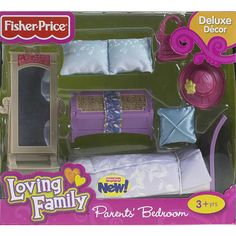 "Fisher-Price Loving Family Dollhouse Furniture Set - Parents' Bedroom - Fisher-Price - Toys ""R"" Us"