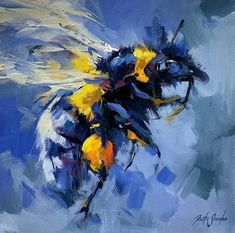 reddit: the front page of the internet Bee Painting, Types Of Painting, Your Paintings, Original Paintings, Horse Posters, Horse Artwork, Bee Art, Traditional Paintings, Community Art