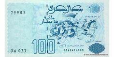 Billet de 100 Dinars Algérien..f2