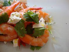 Salada de Camarão, Tomate e Feta