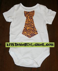 LSU baby boy onsie... need to make one for T-man!