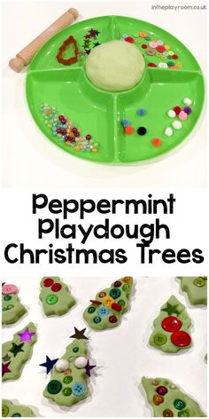 Invitation to decorate Peppermint Play Dough Christmas Trees – In The Playroom Peppermint Playdough Christmas trees invitation to play Christmas Activities For Kids, Preschool Christmas, Christmas Themes, Winter Activities, Easy Diy Crafts, Xmas Crafts, Diy Crafts For Kids, Fish Crafts, Spring Crafts