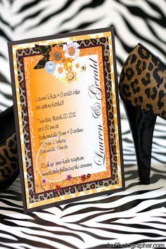 Wild Thing Leopard Wedding Invitation Suite 5x7 by AllisStudio, $4.25