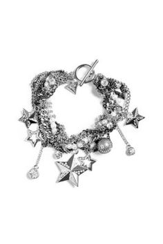 Silver-Tone Rocker Statement Bracelet | GUESS.com