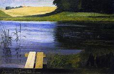 Johan Thomas Lundbye - View of a Pond