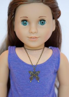 American Girl doll butterfly necklace on Etsy, $4.00