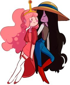 Bubbline by mooseman-draws Life Is Strange, Princesse Chewing-gum, Marceline And Princess Bubblegum, Prince Gumball, Adventure Time Anime, Adventure Time Drawings, Adventure Time Princesses, Jake The Dogs, Bubbline