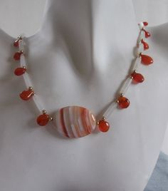 Carnelian with White Stripes Agate  with by ShadowoftheCross