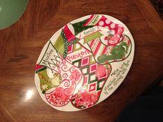 Christmas Stocking Keepsake Footprint Plate