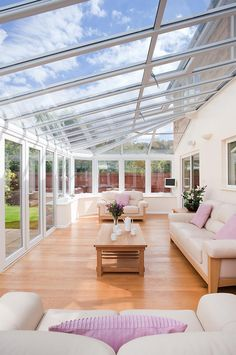 Surf images of sunroom designs and style. Discover ideas for your 4 periods room enhancement, consisting of motivation for sunroom decorating as well as layouts . Home, House Design, Glass House, Conservatory Kitchen, Sunroom Designs, New Homes, Outdoor Rooms, Living Spaces, Glass Room