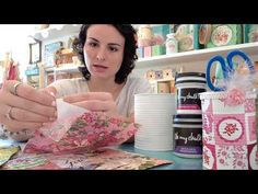 Decoupage sobre latas de hojalata - YouTube Diy Crafts Hacks, Diy And Crafts, Ideas Para, Recycling, Shabby Chic, How To Make Crafts, Paper, Painted Jars, Covered Boxes