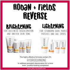 Brightening VS. Lightening   Rodan and Fields   Reverse   skincare