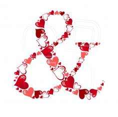 Symbol of hearts vector illustration. Photo by Yulia Yulia on Mostphotos. Alphabet Images, Alphabet And Numbers, Africa Art, Letter Art, Heart Art, Paper Quilling, Birthday Greetings, Clip Art, Valentines