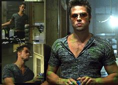 Fight Club Tyler Durden T-shirts? - Page 54 Fight Club Brad Pitt, Tyler Fight Club, Fight Club 1999, Tyler Durden, This Is Your Life, Club Style, David Fincher, I Movie, Movie Stars