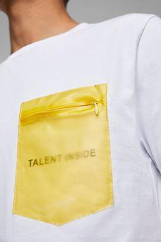 POCKET T - SHIRT-Printed-T-SHIRTS-MAN | ZARA United States Shirt Logo Design, Tee Design, Shirt Designs, Casual T Shirts, Cool Shirts, Best T Shirt Brands, Diy Fashion, Mens Fashion, Camisa Polo