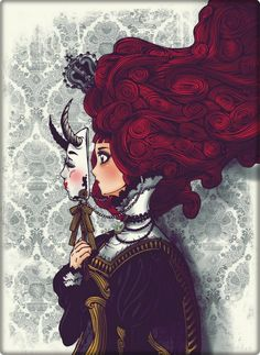 This is the red queen see may seem evil on the outside but I think deep inside she just another person who just wants to fit in. A person who wants to be know and cared for. :) lolTheres always a reason for everything and there always a misunderstanding for everything.