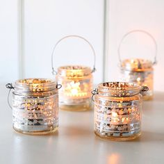 Small Vintage Silver Hanging Tealight Holder