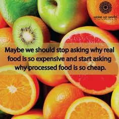 Real and processed food