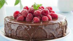 Gevulde chocoladetaart met verse frambozen | VTM Koken