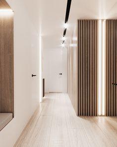 Flat Interior, Minimalist Home Interior, Apartment Interior Design, Modern Interior, Interior Architecture, Lobby Interior, Muji Home, Corridor Design, Interior Design Images