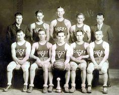 PA Duryea 1930 Ducky Five Basketball Team Pesontine. Ducky Duck, Arrow Shirts, College Boys, You're Hot, Team Uniforms, Look Older, Team Photos, Basketball Teams, Bucky