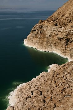 The Dead Sea, Jordan from above.