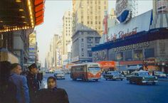 Avenue toward Street in Broadway towards Street in 'On the waterfront' with Marlon Brando is playing at the. 7 Avenue, Vintage Photography, New York Times, New York City, 1950s, Times Square, The Past, Mid Century, Street View