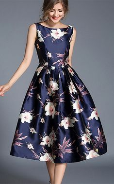 Women's Holiday Going out Casual/Daily Vintage Street chic Floral Round Neck A Line Loose Dress