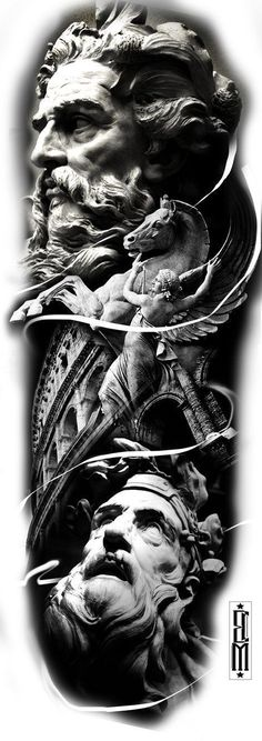 5 Reasons Why You Should Get a Tattoo zeus greek tattoo design sleeve leg black and grey tattoos Half Sleeve Tattoos For Guys, Black Ink Tattoos, Full Sleeve Tattoos, Tattoo Sleeve Designs, Black And Grey Tattoos, Los Muertos Tattoo, Greek God Tattoo, Pirate Ship Tattoos, Realistic Tattoo Sleeve