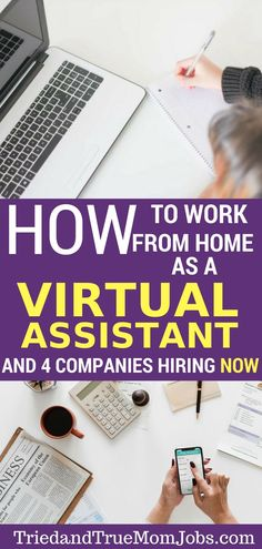 Interested in becoming a Virtual Assistant? See how you can get started even if you don't have previous experience. Additionally, you'll find a list of top companies hiring if you have skills in the areas of social media management, editing, graphic desig Money Saving Mom, Best Money Saving Tips, Make Money Blogging, Way To Make Money, Money Tips, Earning Money, Earn Money From Home, Earn Money Online, Online Jobs