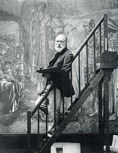 Edward Burne-Jones dans son atelier.
