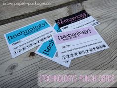{technology punch cards} - Simply Kierste