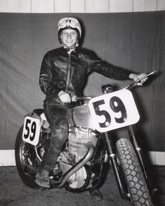 """Famous Dirt Track Racer Sammy """"The Flying Flea"""" Tanner is named Grand Marshal of the Ascot Flat Track Reunion to be held May 12 at the Wally Parks NHRA Motorsports Museum. Moped Motorcycle, Flat Track Motorcycle, Flat Track Racing, Racing Motorcycles, Vintage Motorcycles, T Race, Flat Tracker, Dirt Track, Super Bikes"""