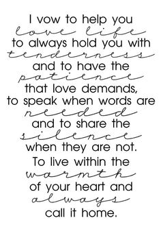 Wedding Quotes : QUOTATION – Image : Quotes Of the day – Description I Vow Sharing is Caring – Don't forget to share this quote ! Great Quotes, Quotes To Live By, Me Quotes, Inspirational Quotes, Daily Quotes, Wedding Quotes, Wedding Vows, Dream Wedding, Wedding Ideas