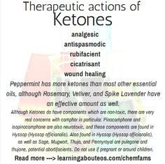 Learning about chemical families - Essential oils - Ketones Essential Oils 101, Young Living Essential Oils, Essential Oil Blends, Aromatherapy Recipes, Essentials, Apothecary, Herbs, Olie, Healing Hands