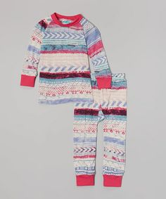 Love this Pink & Purple Diamond Pajama Set - Infant, Toddler, Girls & Women on #zulily! #zulilyfinds