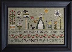 Weeds Make Haste From Shakespeare's Peddler - Cross Stitch Charts - Embroidery - Casa Cenina